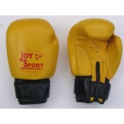 Bokshandschoenen geel leer Joysport