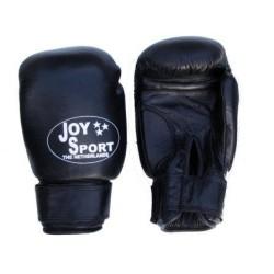 Professionele Bokshandschoenen zwart leer Joysport