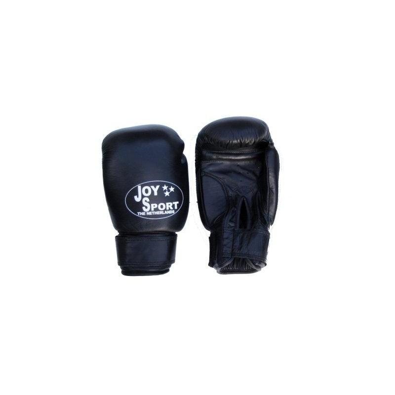 Bokshandschoenen zwart leer Joysport