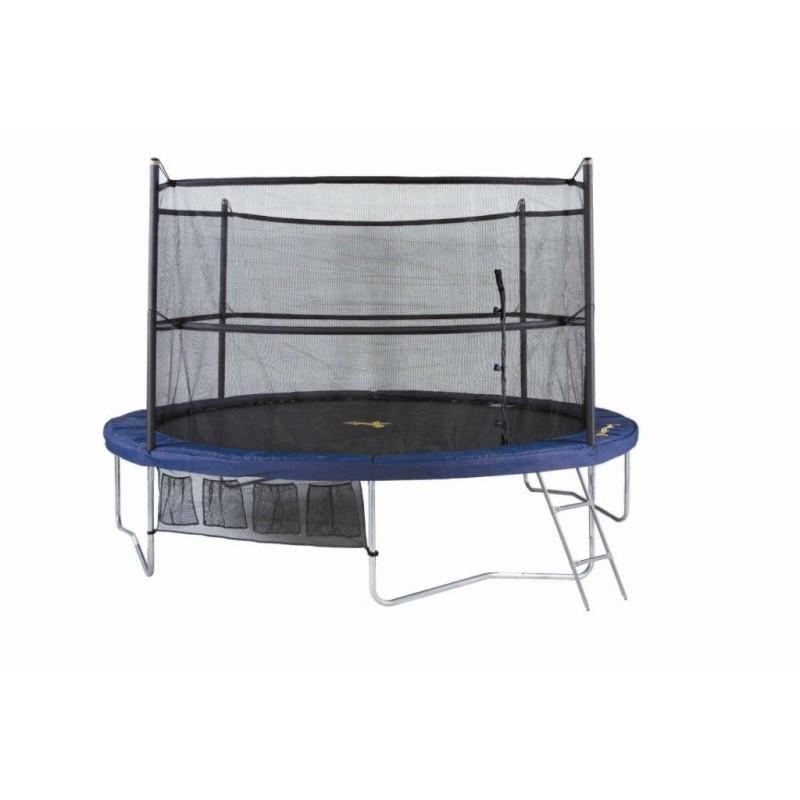 Jumppod trampoline 370 cm DE LUX rond met beschermnet