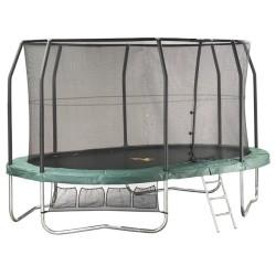 Jumppod trampoline Ovaal 460x305 cm met beschermnet