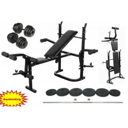 Basic halterbank 180cm+2x35cm stang 80kg